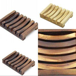 Holz Seifenschale Seifenkasten Seifengestell Holzkohle Seifen Halter Tray Badezimmer Dusche Aufbewahrungsplatte Ständer Anpassbar VT0311 33 V2