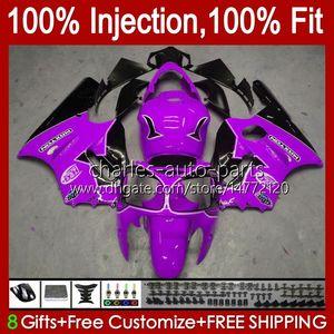 Injection mold OEM For KAWASAKI NINJA ZX 12 R 1200 CC ZX1200C ZX1200 C 2000 2001 Body 2No.140 ZX12R 00 01 ZX 1200 12R 1200CC Bodywork ZX-12R 00-01 ABS Fairing purple blk