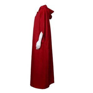 The Handmaid's Tale Costume Cosplay Handmaid Offred Cloak Cape Long Sleeve Dress White Hat Women Halloween Carnival Party Props Y0913