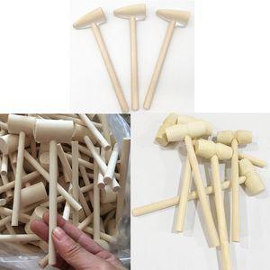 Mini Holzhammer Holz Schläger für Krabbenschale Hummer Meeresfrüchte Hand Werkzeuge Handwerk Schmuck Handwerk Puppenhaus Spiel Haus Supply