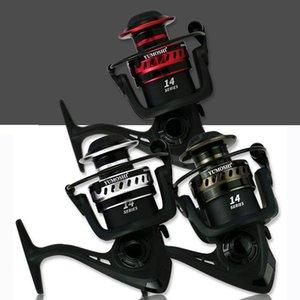 RQNQ High Speed Double Spool Spinning Angelrolle 5.2: 1 / 4,7: 1 Getriebeverhältnis Karpfen Angelrollen Verfügbare Rollenräder