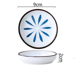Ceramic Plate Home Kitchen Tableware Kitchen Dip Plate Small Vinegar Plate Soy Sauce Plates HWB5176