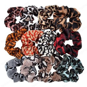 girls hair clips woman accessories leopard pattern head headband flower snake pattern elastic band large intestine ring headdress