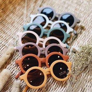 Дети Солнцезащитные очки Круглая рамка Солнцезащитные Очки УФ Защита Девушки Очки Очки Дети Пляж Очки Летние Детские Аксессуары 6 Цветов DW2973