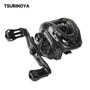 TSURINOYA Bait Finesse Fishing Reel DARK WOLF 50 Ultralight Baitcasting Reel 148g Shallow Spool Casting Carbon Body Trout