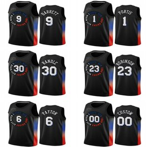 2021 мужчин 9 RJ Barrett Kevin Knox II Swingman City Basketball Jersey Black Icon Edition трикотажные изделия