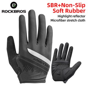ROCKBROS Men Women Touch Screen Breathable Anti-slip Riding Bicycle Reflective Gloves Full Finger Cycling Gloves Bicycle Accessories
