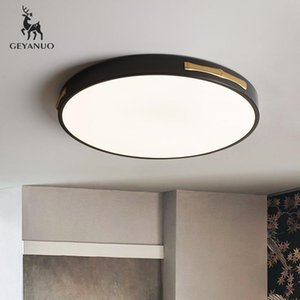 Ceiling Lights All Copper Led Lamp Black Round Living Room Ultra-thin Simple Modern Home Bedroom Creative Lighting Lamps