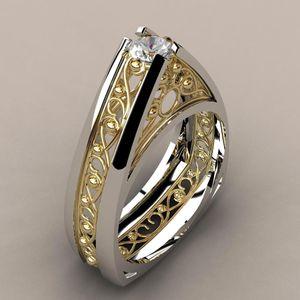 14k Gold Diamond Separation Anillos De Ring Bizuterias Hip-hop Rock Rings for Women Men Gemstone Bijoux Femme Anel Jewelry