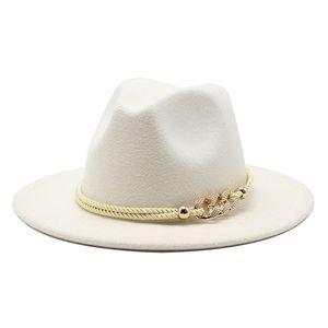19 Colors Wide Brim Simple Church Derby Top Hat Panama Solid Felt Fedoras Hats for Men Women Artificial Wool Blend Jazz Cap
