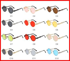 Vidano Optical Round Metal Sunglasses Steampunk Men Women Fashion Glasses Designer Vintage Sunglasses UV400