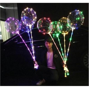 Led Bobo Balloon With 31.5inch Stick String Balloon Led Light Christmas Halloween Birthday Balloons Party jllfsU sport77777