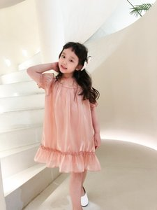 Summer Kids Girls Dress 2021 tops Baby Girl Pink Dresses Sweet Girls short sleeve Star Children clothing