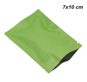 7x10cm Matte Aluminum Foil Snacks Candy Packaging Bag Food Grade Mylar Zipper Lock Packed for Zip Pouches Self Seal Lock Storage Package Bag