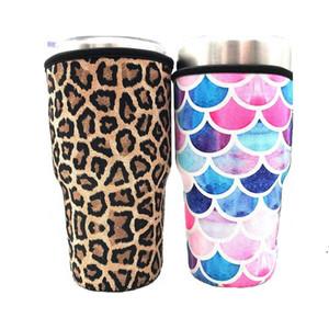 Кубок со льдом в рукавах рукава неопреновые изолированный рукава чашки для чашки для 30 унций 32 унции тумблер бутылки с держателем носителя носителей перевозки DWD5142