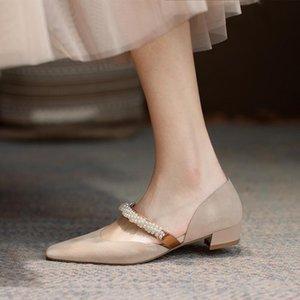 Dovereiss Fashion Femme's Chaussures Été Abricot Élégant Couleur pure Consice Chunky Heels Pompes Sexy Bureau Dame