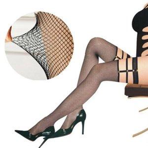 Sıcak Kek Garter Kadınlar Kemer Elastik Sling Seksi Uzun Tüp Çorap Siyah Fishnet Uyluk Sheer Tayt Külotlu # 0108