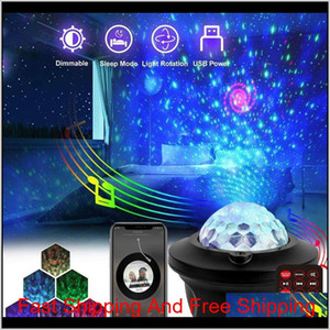 1 PCS USB LED Bluetooth Music Starlight Starlight Projecteur Galaxy Watermark Butterfly Starry Night Lamp Star Sky Projecti Bbyouq M8QZO XWRKU