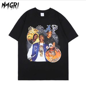 Nagri ASAP Rocky T-Shirt Männer Hip Hop Streetwear Harajuku Vintage T-Shirt Grafik Gedruckt Casual Kurzarm T-Shirt X0628