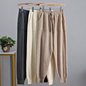 2021 Big Bols Bols Bag Drawstring Harem Pantalones Harem Otoño Invierno Hechos Pantalones Pantalón Pantalón Negro Tobillo Pantalón Hembra