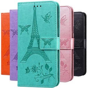 Para Sony Xperia 10 8 5 L4 L3 Caso 3D Butterfly Floral Couro Flip Capa Para Sony Xperia L4 L3 5 8 10 Capa de Capa de Telefone