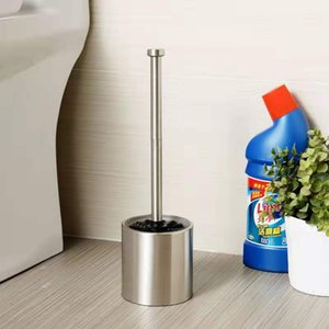European style stainless steel double layer thickened toilet brush glass liner straight body
