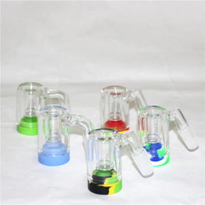 hot sale Glass Reclaim Catcher ash catchers with 5ml silicone containers and 14mm joint Quartz Banger nail for dab rig glass bong