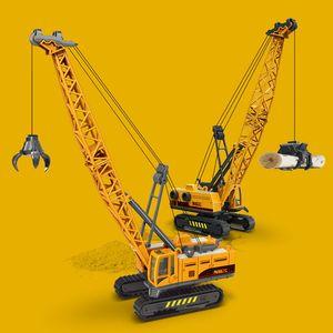 Simulation of children's engineering toy tearing stone machine wood grabbing crane boy car model gift