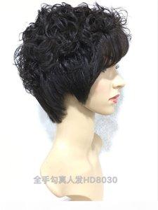 Peluca de encaje completo sin glotura rizada con corona de seda 15 cm Pelo brasileño Peluca a mano a mano de peluca ajustable Color natural