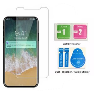 Screen protector For iPhone 12 11 Pro Xs Max X XR 7 8 tempered glass For Samsung J7 J5 prime with Paper Box