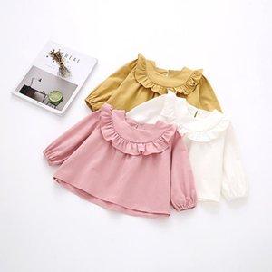 Shirts Baby Lace Round Neck Long-Sleeve Wawa Shan Spring Autumn Girls Children's Clothing Puff Sleeve Bottoming Shirt