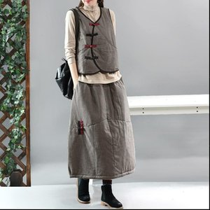 Winter Skirt Women Retro Loose padded Warm Casual Skirt 2019 New Ladies Elastic Waist Plaid Thicker All match Skirt
