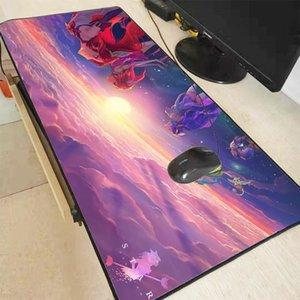 XGZ Ligi Legends Kız Oyun Büyük Kilitleme Kenar Mousepad Danışma Mat Bilgisayar Oyunu Mouse Pad Gamer CSGO DOTA XXL Y0308 için Play Paspaslar