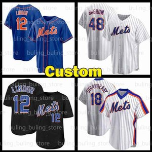 31 Mike Piazza Jerseys 48 Jacob Degrom 12 Francisco Lindor 41 Tom Seaver 32 Aaron Loup 9 Brandon Nimmo 59 Carlos Carrasco مخصص
