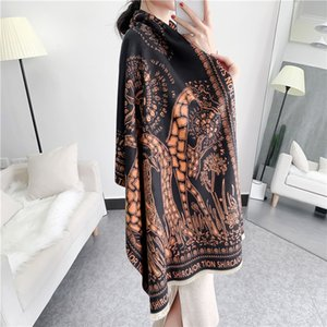 Cashmere like for women winter Korean giraffe thickened tassel scarf fashion warm air conditioning shawl ICSR