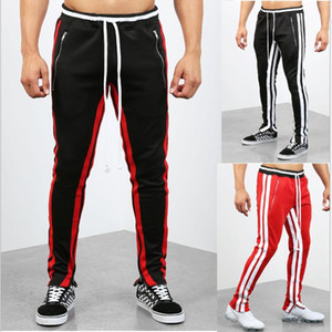 2021 Men Joggers Casual Pants Fitness Man Sportswear Tracksuit Bottoms Skinny Sweatpants Trousers Black Gyms Jogger Track Pants