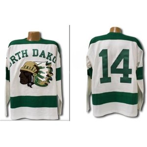 Real 668 real Full embroidery 1954 North Dakota Sioux Jersey 668 Stitched Fighting Sioux DAKOTA Jersey or custom any name or number Jersey