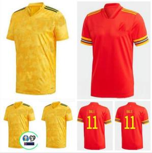 20 21 Pays de Galles de football Jersey Euro Coupe 2020 2021Wales Hommes Chemise Chemise Chemise de football Bale James Maillot de Foot Ramsey Camisetas