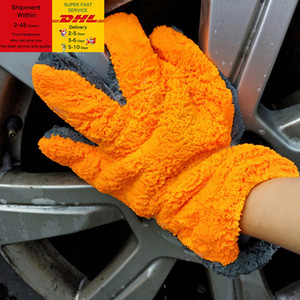 1 Pcs Microfiber Car Wash Gloves Car Cleaning Tool Home use Multi-function Cleaning Brush Detailing DHL Free