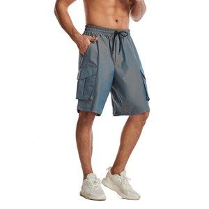 Multi Crazy Bag Muscle Muscle Roading Shorts Мужская Цвет Изменение Изменение цвета Сплетенные Большие Свободные Fit Беспокойные Спортивные Капризы