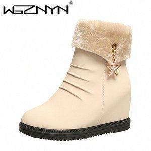 WGZNYN 2020 Frauen Schneeschuhe für Moman Schuhe Fersen Knöchel Botas Mujer Halten Sie warme Plattformstiefel weibliche Winterschuhe L4BO #