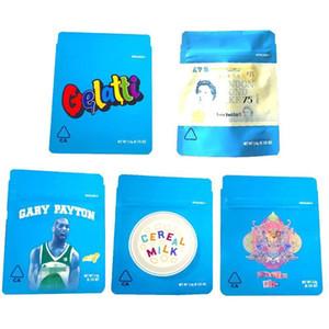 Kalifornien SF 8. 3,5g Mylar Kinderfeste Taschen 420 Verpackung Gelatti Getreidekanzlei Gary Payton Cookies Bag Größe 3.5g Freies Schiff