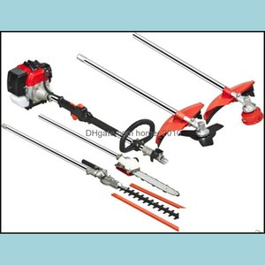 Grass Trimmer Garden Tools Home & Garden Model 9 In 1 Mti Brush Cutter,Hedge Trimmer,Tree Pruner, Several Blades,Bump Feed Head Drop Deliver