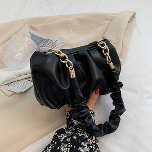 اليد يميل المرأة بو الجلود حقيبة crossbody مع مقابض قصيرة الصيف سلسلة الأزياء سلسلة الكتف وحقائب اليد الأزرق الأصفر