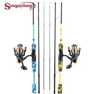 Rod Reel Combo Sougayilang 1.7M Fishing 3 Sections Spinning 13+1BB 5.5:1 Gear Ratio Tackle
