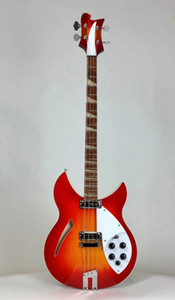 Azul personalizado 4 cuerdas Cherry 4005XC Guitarra eléctrica eléctrica