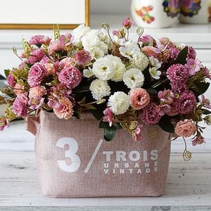 1 Bundle European Small Clove Carnations Artificial Flowers Wholesale Home Photography Soft Decoration Handmade Diy Materials
