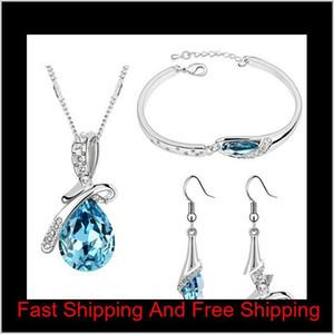 New Arrival For New Year Austria Zircon Crystal Necklace Earrings Bracelet Jewelry Sets Diamond Shoe Jewelry Sets Shipping V9E0Z Ddukl