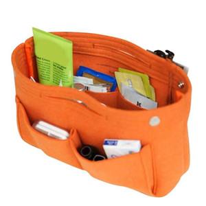Felt Fabric Cosmetic Bag Travel Multifunction Handbag Cosmetic Organizer Purse Insert Bag Felt Fabric Storage Pouch Case