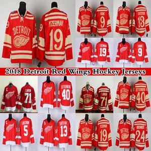 디트로이트 레드 날개 13 파벨 DATSYUK 40 Henrik Zetterb 19 Steve Yzerman 71 Dylan Larkin 9 Gordie Howe Red Hockey Jerseys